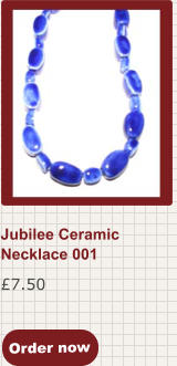Order now £7.50 Jubilee Ceramic Necklace 001