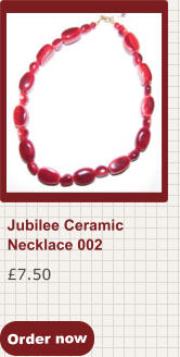 Order now £7.50 Jubilee Ceramic Necklace 002