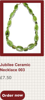 Order now £7.50 Jubilee Ceramic Necklace 003